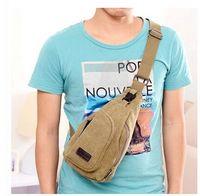 Men's Canvas Military Messenger Shoulder Travel Hiking Fanny Bag Backpack BAG001