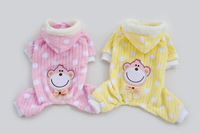 New Arrilval Soft Moneky Head On Back Style  Pet Dogs Coat Free Ship Dogs clothes