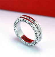 Brand women's ring.Wholesale fashion 18 K white gold plating & many rhinestone rings.Free shipping + gifts.Buy 3, 15 % discount.