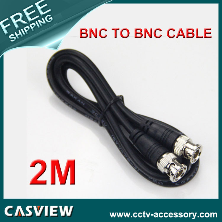 Free shipping 10PCS 2M(6ft) RG59 Coaxial extend Cable BNC male to BNC male for CCTV Camera 75 ohm Coaxial Cable(China (Mainland))