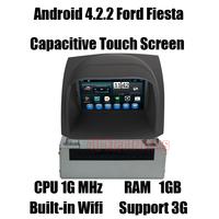 Android Car DVD for Fiesta Headunit Autoradio GPS Navi with Cortex A9 Dual Core/ CPU 1G MHz/RAM 1GB/3G host Free shipping