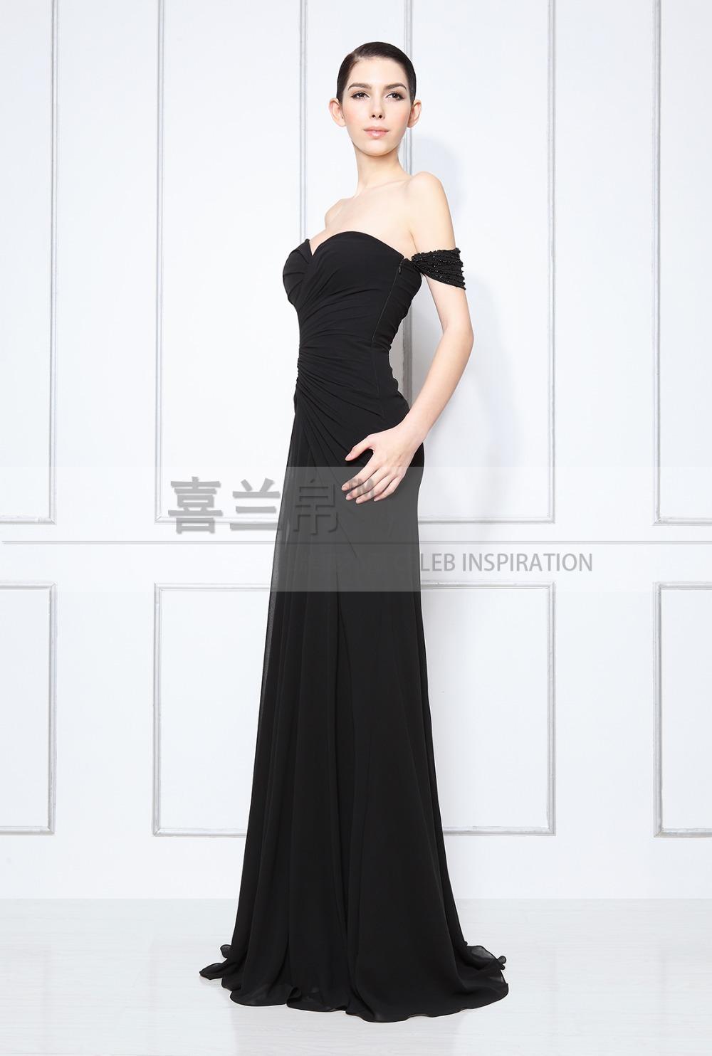 Off The Shoulder Evening Dress