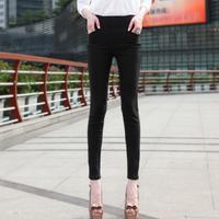 2014 spring and summer stretch Slim pencil pants pocket word Bottoms Korean casual pants feet women pants