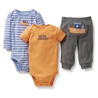 Carters Brand,Baby's Sets, Baby Bodysuits,3pcs Set, Newborn, Baby Boy Clothes Sets,Cotton conjunto de roupa, Baby Boy Clothes