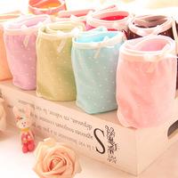 Free shipping ladys Low Waist cute girls panties pure cotton underwear