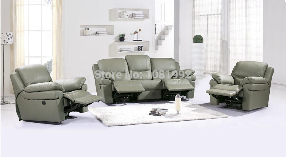 8055 itália top grade couro de vaca conjuntos de sofá sofá moderno com cadeira sofá funcional cor pode ser alterada(China (Mainland))