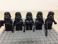 5pcs Building Block Toy Mini Figure Starwars Black Storm Trooper