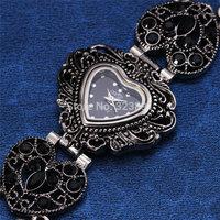 2014 new fashion hot sale bracelet heart shape dial rhinestone women watches full steel ladies luxury wrist quartz watch 465601