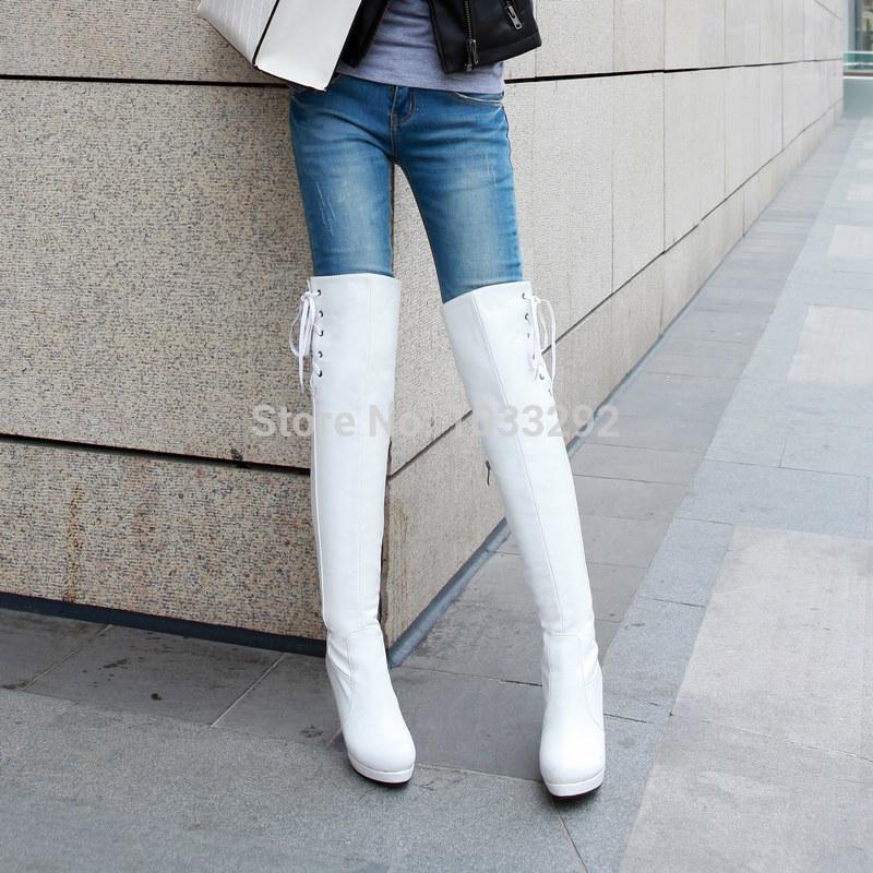 womens stiletto high heels slim leg leather thigh
