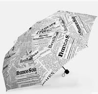 Free Shipping 2014 Hot Sale Sun Rain Parasols Umbrella Novelty Items Pencil White Newspaper Umbrellas Fashion DDW-U001