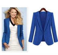 Plus Women Jacket Women Coat Female Blazer Suit Foldable Jackets Women Clothes Suit 2014 New Fashion  Winter 5 colors S,L.M.XL