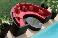 ODSF003 Outdoor leisure sofa combination living room balcony garden furniture the cane makes up beach rattan sofa