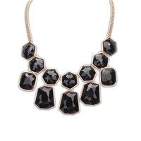 brand new gold best friends necklaces statement choker necklace for women vintage black  big imitate gemstone necklace