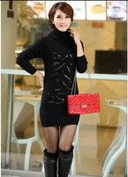 2014 women's clothing in the high-end elegant long turtleneck sweater