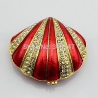 Wholesales manufacturer big size pewter tortoise seashell shell jewelry box-seashell jewelry box