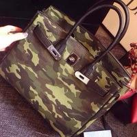 2014 fashion trend of the portable one shoulder cross-body women's handbag fashion Camouflage platinum bag lychee bag big bag
