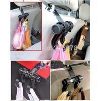 1 PC Convenient Double Vehicle Hangers Auto Car Seat Headrest Bag Hook Holder Free Shipping