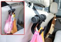 Convenient Double Vehicle Hangers Auto Car Seat Headrest Bag Hook Holder S7NF