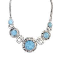 2014 new design geometric big pendant chokers collar necklace women costume jewelry