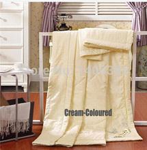 Edredón de seda envío gratuito otoño /1.5KG plana edredón color nata Consolador De Patria De Seda(China (Mainland))