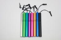 1 LOT 100 PCS Min Order Retail Stylus Advanced Metal Pen for Tablet Smardphone Capacitive Touch Pen 8 different color mix