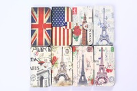 For HTC M8 mini Case Paris Eiffel Tower Restore Ancient England USA PU Leather Cover Card Bag Romantic Hot Sale Gift Wholesale