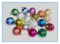 6cm 6pcs/set Mix styles christmas styrofoam balls hanging christmas tree ornaments decor natal merry christmas home decorations
