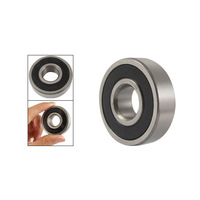 Free  shipping 17 x 40 x 12mm 6203-2RS Double Side Sealed Ball Bearing  5pcs
