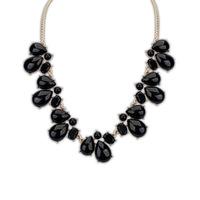 Hot New Women Bib Statement Collar Chain Resin stone waterdrop imitation gemstone Pendant Necklace
