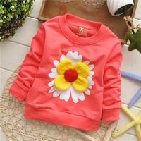 girls baby's big flower cotton baby children sweatshirts hoodies drop shippig KT214R