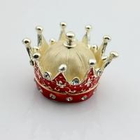 Hot selling 100% Handmade Enamel luxury Wedding Gifts-Crown Jewelry Box-Crown Trinket Box