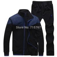 Free Shipping Autumn Men Sport Suit Brand Slim Fit  Top+Full Pant Korean Casual Tracksuit Hoody Sportwear Men Sweatshirt Set