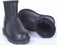 Free Shipping Australia Brand 5854 Waterproof Boots  Men/Women Genuine Leather Fur Warm Winter Snow Boots Plus Size+7 Colors