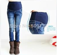Spring, Autumn Maternity Clothes Pregnant Women/ Maternity/ Women's Plus Size Design Jeans B182