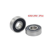 Free  shipping 6202-2RS Deep Groove Ball Bearing Replacement 2 Pcs for Rollerblade