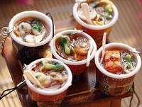 Simulation food mobile phone pendant key advertising promotion products - instant noodles barrels of mobile phone line