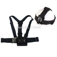GoPro Chest Belt tripod mount Harness+ head band Elastic Adjustable Head Strap For GoPro Hero 3/2/1 Gopro Accessories GA59
