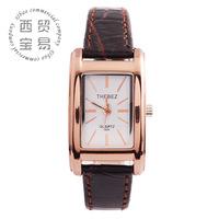Thebez authentic retro square ladies watch business watch quartz watch waterproof belts 856