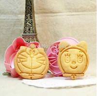 2 pcs/set  Doraemon and Pokonyan Shape Mold ( DIY Tool for bake)