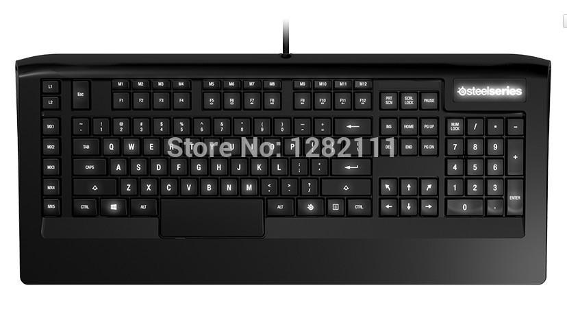 Original Gaming keyboard Steelseries Apex RAW Fastest Keyboard in the World White Back lit Dota 2 LOL WOW(China (Mainland))
