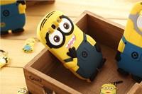 The Yellow Men Doll Silicon case Despicable Me Minion 3D Silicon Cute Cartoon For Samsung Galaxy Grand 2 Case G7106 Case G7102