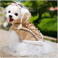 NEW!Fall And Winter Pet Coat Teddy Dog Clothes Retro Ethnic Shammy Cotton Clothes Winter Coat Free Shipping