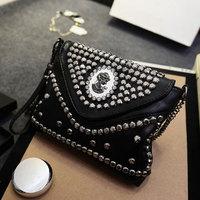 New Trendy Style PU Leather Messenger bags Fashion Rivet Chain Envelope Bag Women's Shoulder Bags Bolsas WJ1037
