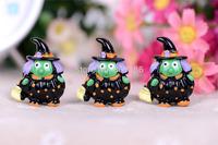 Free Shipping 20PCS/Lots Very Hot and Kawaii Resin Halloween green monster cabochons FOY DIY 27*36
