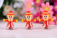 Free Shipping 20PCS/Lots Very Hot and Kawaii Resin Christmas clown.Cartoon cabochons FOY DIY 34*27mm