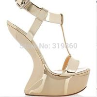 NO heels wedge platform shoes new 14cm high heel shoes pumps shoes fashion sandals for women