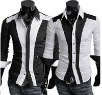 New men's Casual Luxury Stylish Slim Long Sleeve Shirts 3 sizes free shipping 5906