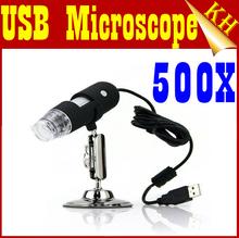 Pixel de Freeshipping130 50X - 500X USB Microscópio Digital 2.0MP endoscópio Magnifier Câmera Com 8 LED(China (Mainland))