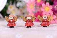 Free Shipping 20PCS/Lots Very Hot and Kawaii Resin Christmas angel cabochons FOY DIY 26*25mm