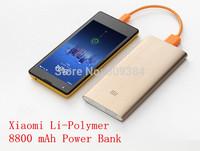 Li-polymer Slim Thin Metal Case 8800mAh MI Power Bank Portable External Battery Charger For Cell Phone Xiaomi M1 M2 M3